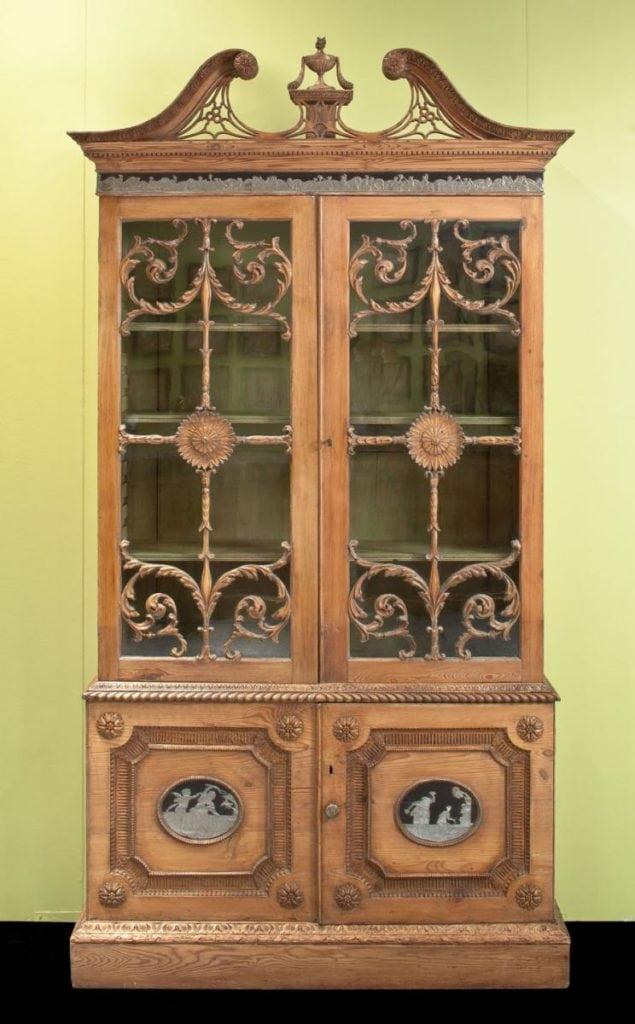 A neo-classical stripped pine bookcase, circa 1770