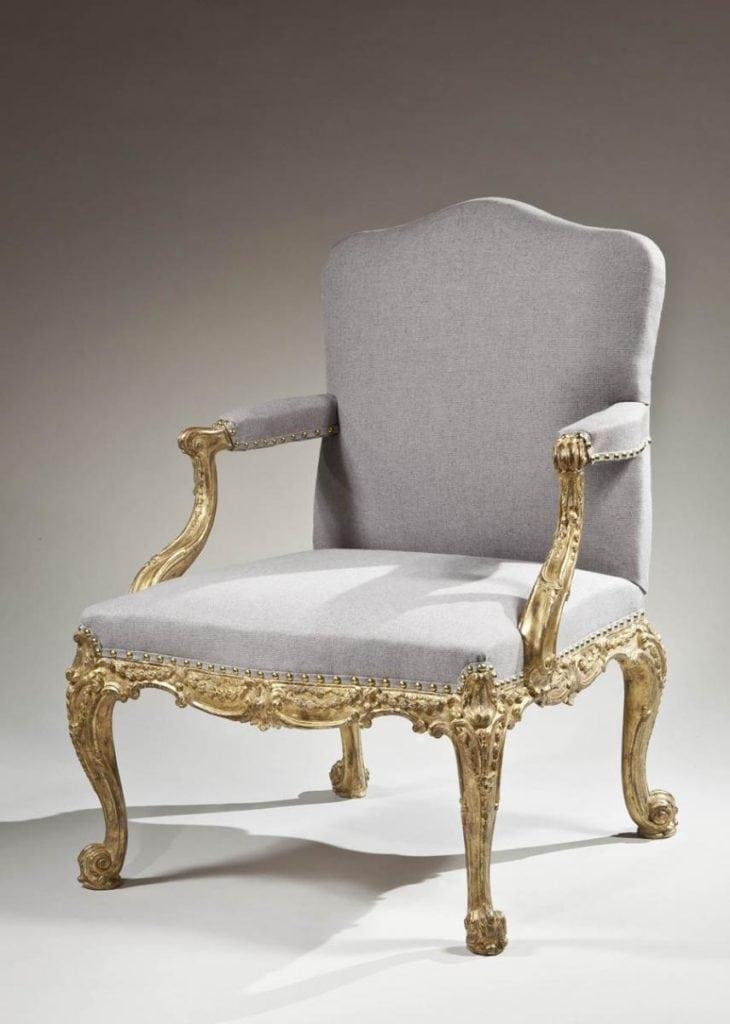 A Gainsborough style chair, circa 1765