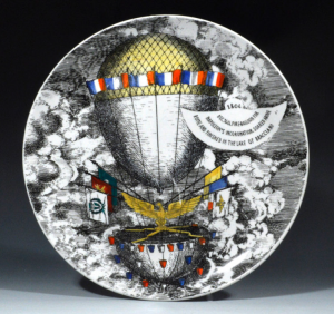 plate with hot air balloon from exhibitor Vandekar